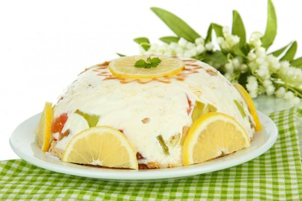 Рецепт                  Желейный торт с фруктами