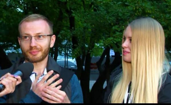 Денис Повалий с женой Светланой