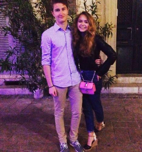 Стефания с парнем