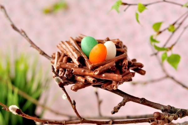 Шоколадные пасхальные гнезда
