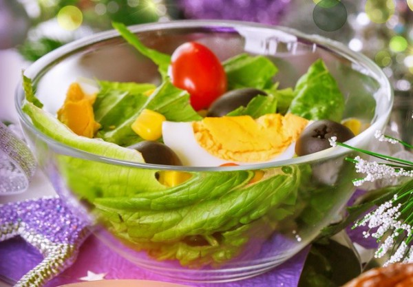 Рецепт                  Легкий новогодний салат