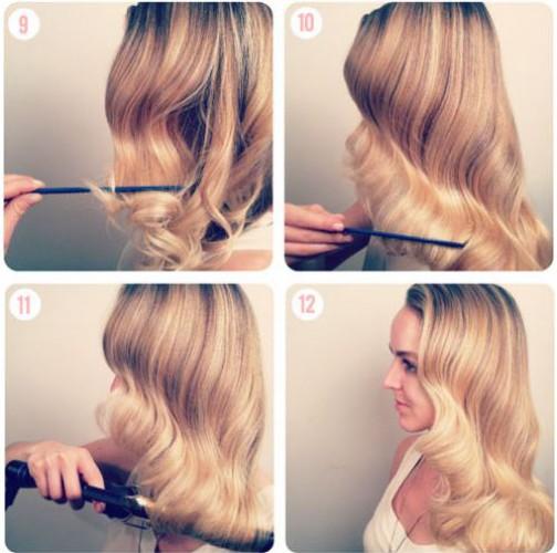 как сделать ретро волны на волосах