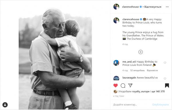 Принц Чарльз умилил Сеть новым фото с внуком Луи