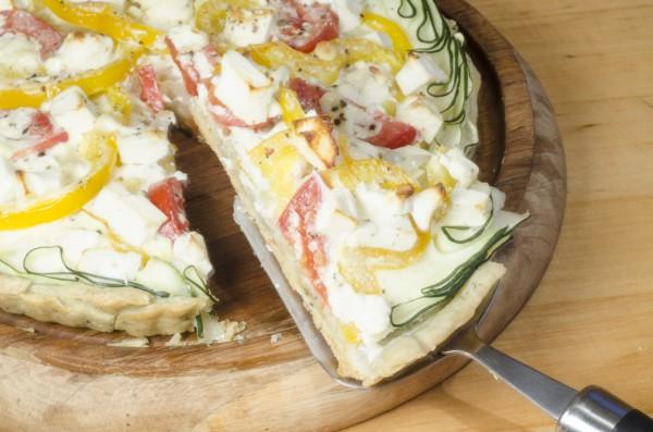 Тарт с брынзой и овощами