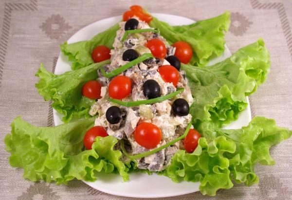 рецепты салатов из жареных крабовых палочек