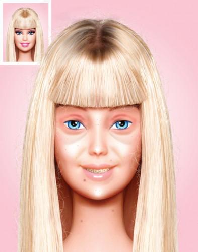 Барби без макияжа - далеко на эталон красоты