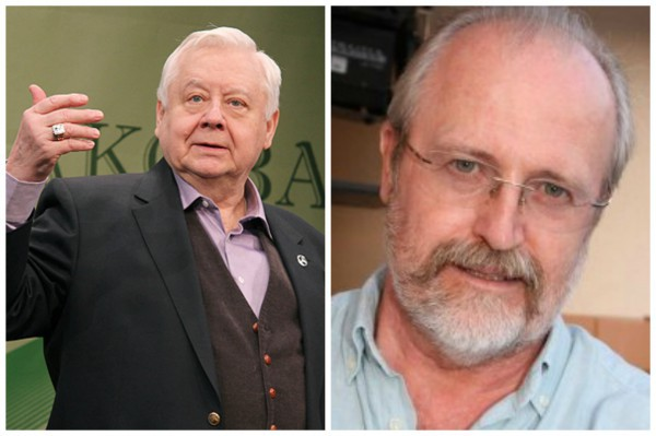 Российские режиссеры Олег Табаков и Владимир Хотиненко (справа)