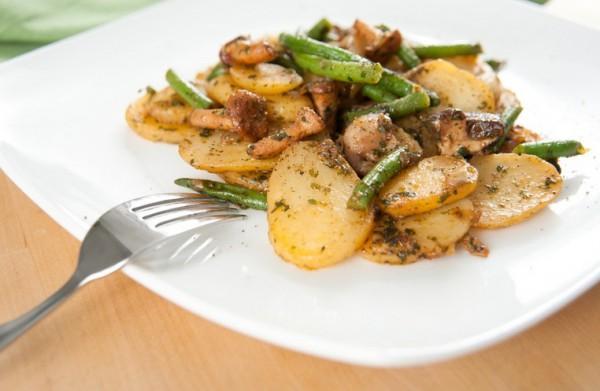 Постный картофель