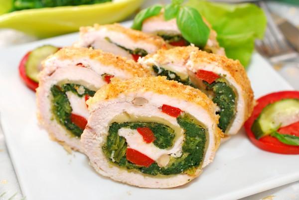 Рецепт                  Куриный рулет со шпинатом