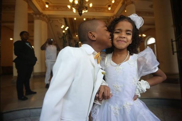 Маленькие гости на кубинской свадьбе