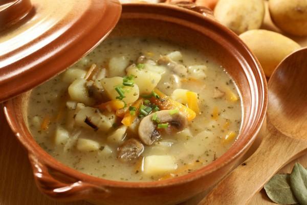 Рецепт постного супа с грибами и фасолью