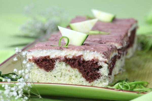 Рецепт                  Мраморный кекс из цуккини