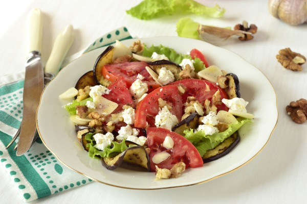 Салат из баклажанов с фетой