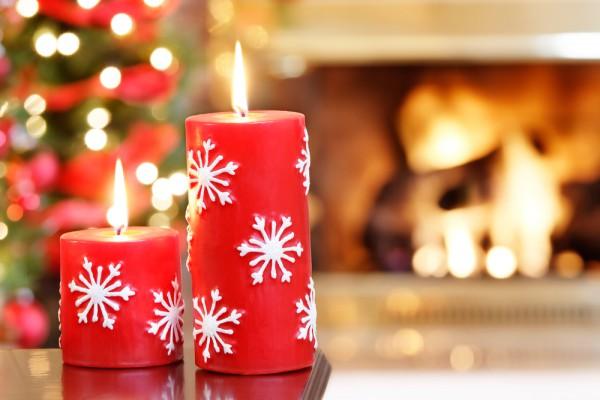 Укрась новогодний стол свечами