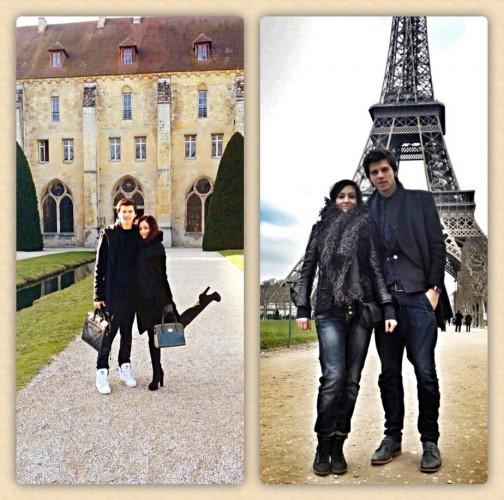 Лещенко с женой в Париже