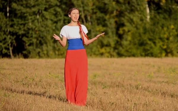 Кадр с видео о Путине