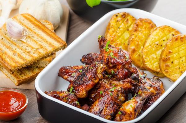 Блюда для пикника с фото: куриные крылышки