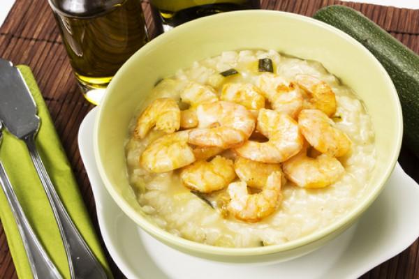 Рецепт                  Креветки в сырном соусе