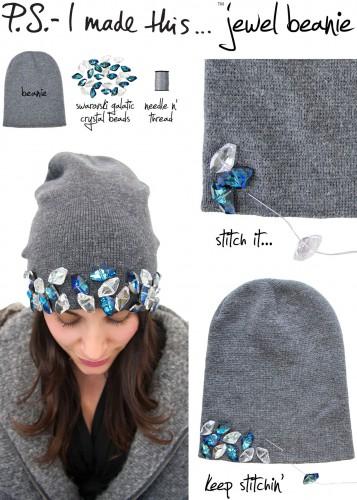 украшение шапки своими руками