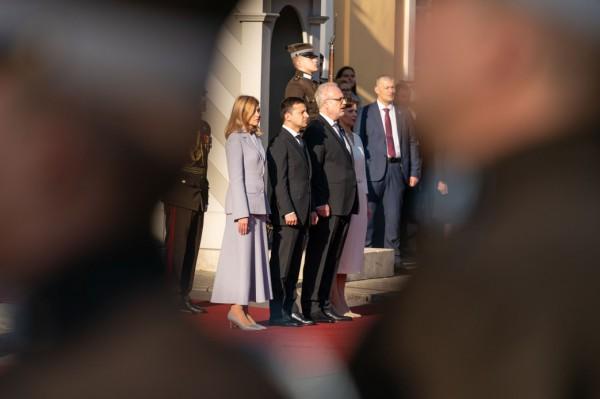 Визит Владимира и Елены Зеленских в Латвию