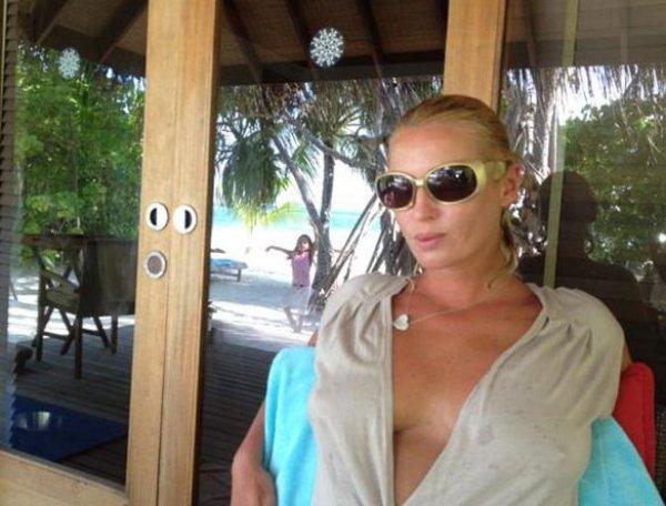 Анастасия Волочкова еще отдыхает на Мальдивах