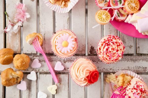 Рецепт                  Рецепты на День Валентина: Капкейки с масляным кремом
