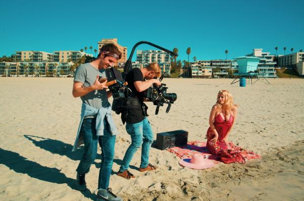 Съемки клипа для группы Rumberos в Лос-Анджелесе