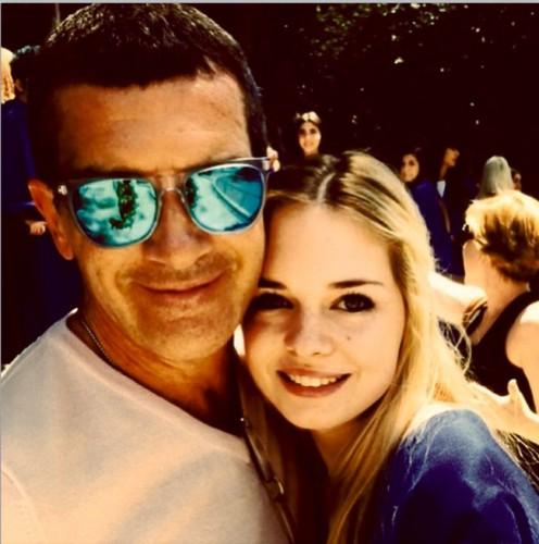 Антонио Бандерас с дочкой