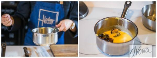 Рецепт от Эктора: Доводим соус с мидиями до готовности