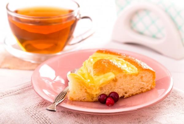 Рецепт                  Пирог с консервированными персиками