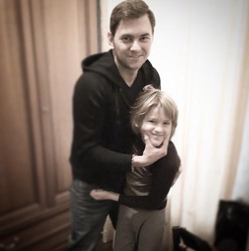 Возлюбленный Дубцовой с ее восьмилетним сыном Артемом