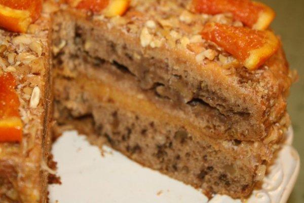 Рецепт                  Постный торт с фруктами и орехами