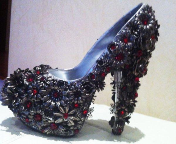 Шикарные туфли в камнях, цена - 1100,00 грн