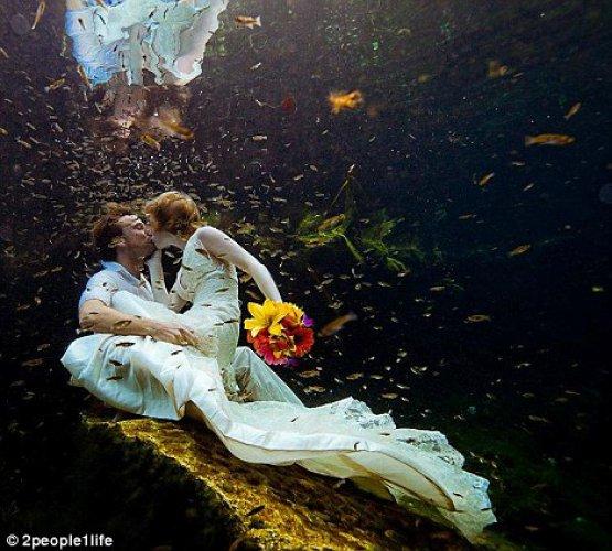Вот такое фото сделал свадебный фотограф в Мексике
