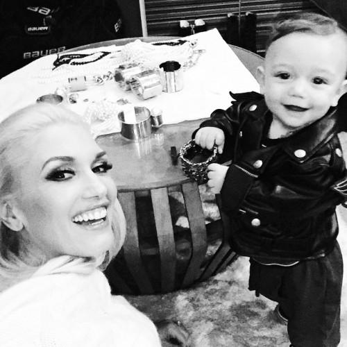 Гвен Стефани с сыном Аполло