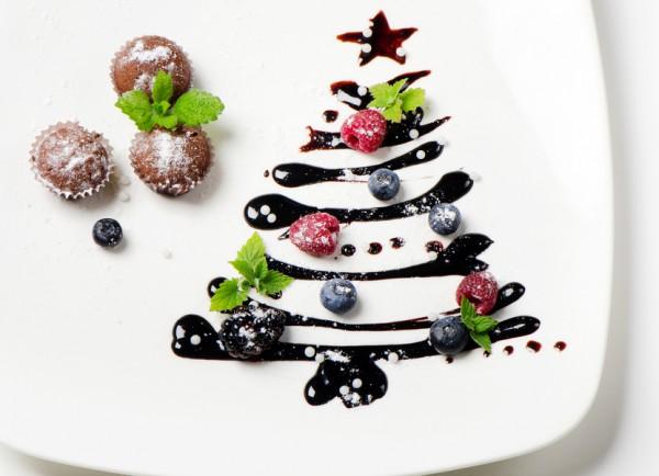 Шоколадная елочка из глазури
