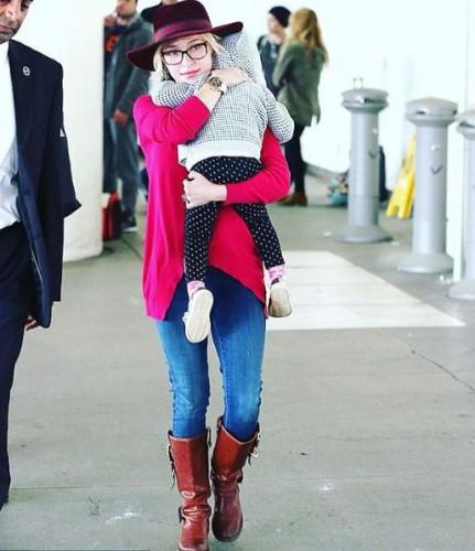 Хейден Панеттьери с дочерью Каей Евдокией