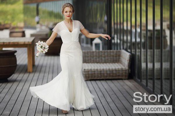 Шоптенко шила удобное платье для свадьбы