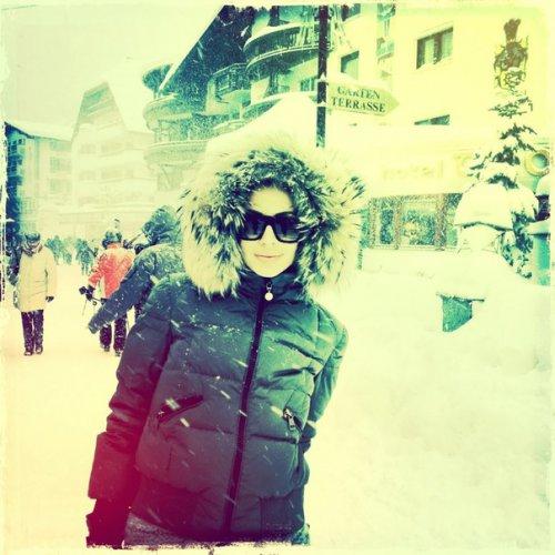 Светлана Лобода любит кататься на лыжах