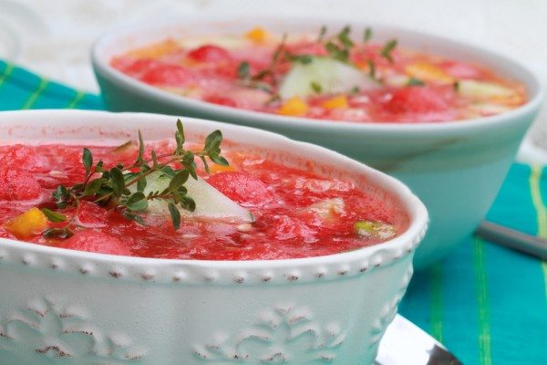Гаспачо можно приготовить с арбузом