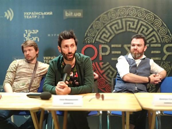 Фото с пресс-конференции спектакля Орестея