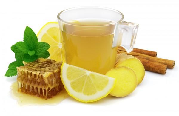 Вкусный имбирный чай помогает бороться с простудой