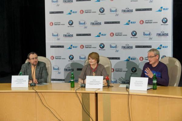 Организаторы Ukrainian Fashion Week (слева направо): Александр Соколовский, Ирина Данилевская, Владимир Нечипорук