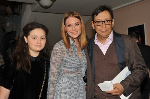 Егор Кончаловский и Любовь Толкалина с дочкой Марией
