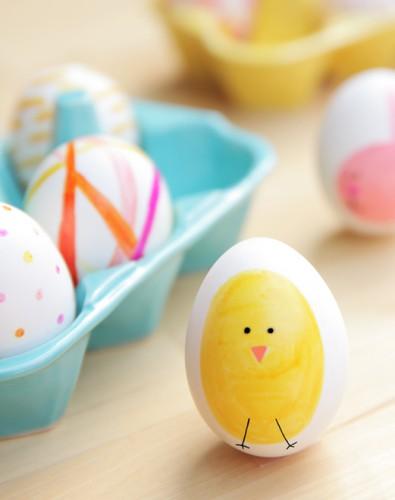 Как красить яйца на Пасху 2014 для детей