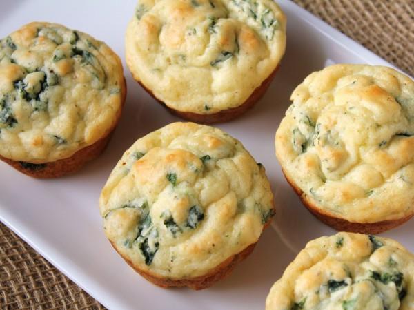 Рецепт                  Сырные кексы с зеленью