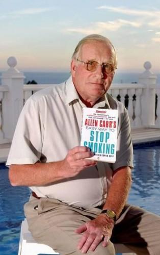 Аллен Карр: Аллен Карр является автором нескольких книг, посвященных освобождению от алкогольной зависимости, лишнего веса, некоторых фобий. Летом 2006 года у Карра был обнаружен рак легких в неоперируемой форме, и в ноябре 2006 года он умер у себя дома недалеко от испанского города Малага.