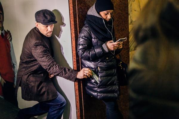 Фото с акции в киевском метро