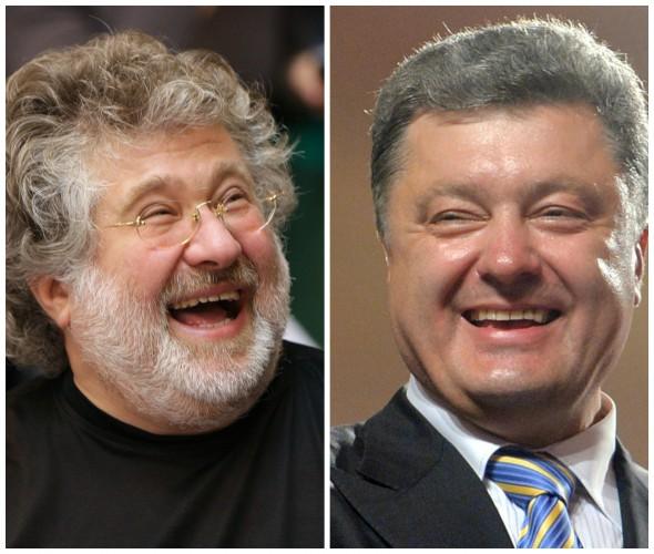 Коломойский и Порошенко (справа)
