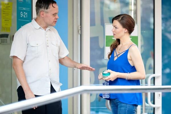 Екатерина Гулякова на съемках сериала